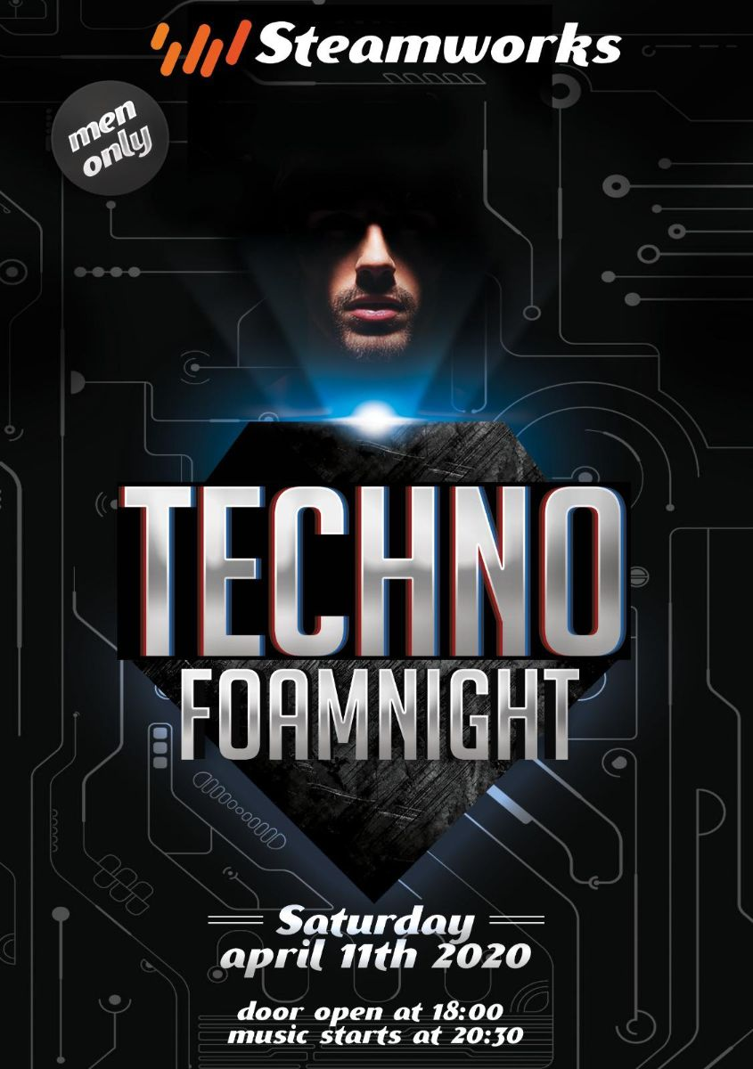 techno foamparty men only